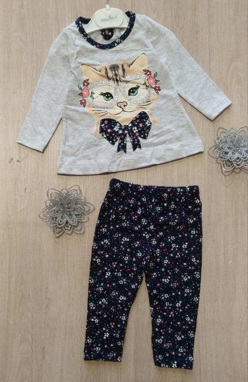 Детский костюм 6-18 мес двунитка для девочек Турция оптом