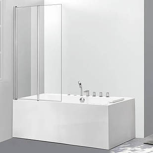Стеклянная шторка для ванны AVKO Glass 542-2 100x140 см перегородка для ванной