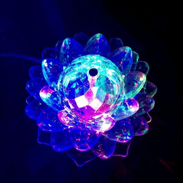 Вращающаяся светодиодная диско лампа лотос