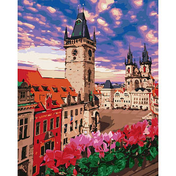 Картина по номерам 40*50 см. Идейка (без коробки) Невероятная Прага (КНО 3574)