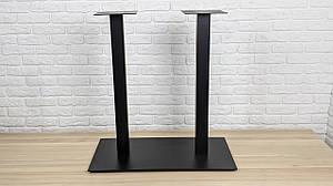 """Чорні ніжки з металу """"DUO"""" для опори столу для столу в кафе 8мм"""