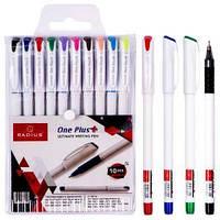 """Набір ручок """"One Plus"""" RADIUS 10 кольорів 778255"""