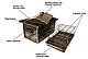 Домашняя коптильня 520х310х310 толщина метала 2.1 мм Горячего копчения Украина, фото 2