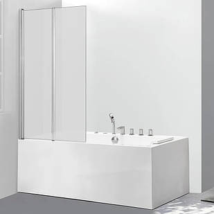 Стеклянная шторка для ванны AVKO Glass 542-2 100x140 см перегородка для ванной Матовое