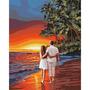 Картина по номерам 40*50 см. Идейка (без коробки) Романтика на побережье (КНО 4741)