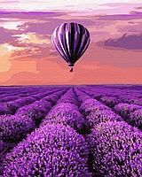 Картина по номерам 40*50 см  Воздушный шар в Провансе