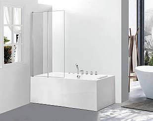 Стеклянная шторка для ванны AVKO Glass 542-2 120x140 см перегородка для ванной