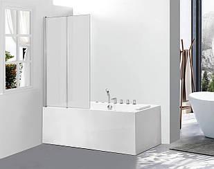 Стеклянная шторка для ванны AVKO Glass 542-2 120x140 см перегородка для ванной Матовое