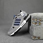 Мужские кроссовки Adidas ZX 750 (серые с синим) 10368 замшевые демисезонные повседневные спортивные кроссы, фото 5