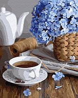 Картина по номерам 40*50 см Чашечка весны
