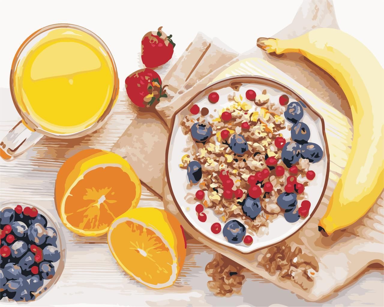 Картина по номерам Корисний сніданок, 40x50 см., Art Story