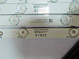 КОМПЛЕКТ LED ПЛАНОК СВЕТОДИОДНОЙ ПОДСВЕТКИ LCD ПАНЕЛИ (для телевизора Philips 49PUS6401/12),бу, фото 2