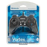 Провідний геймпад Defender Vortex PC Black
