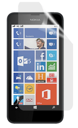 Гідрогелева захисна плівка на Nokia Lumia 630 на весь екран прозора, фото 2