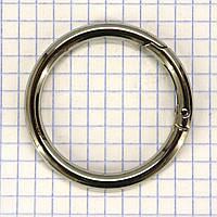 Кольцо карабин 37*6 мм никель для сумок a5683 (4 шт.)