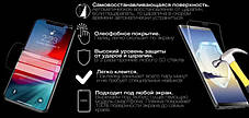 Гідрогелева захисна плівка на Nokia Asha 230 на весь екран прозора, фото 3