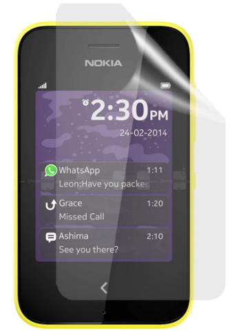 Гідрогелева захисна плівка на Nokia Asha 230 на весь екран прозора