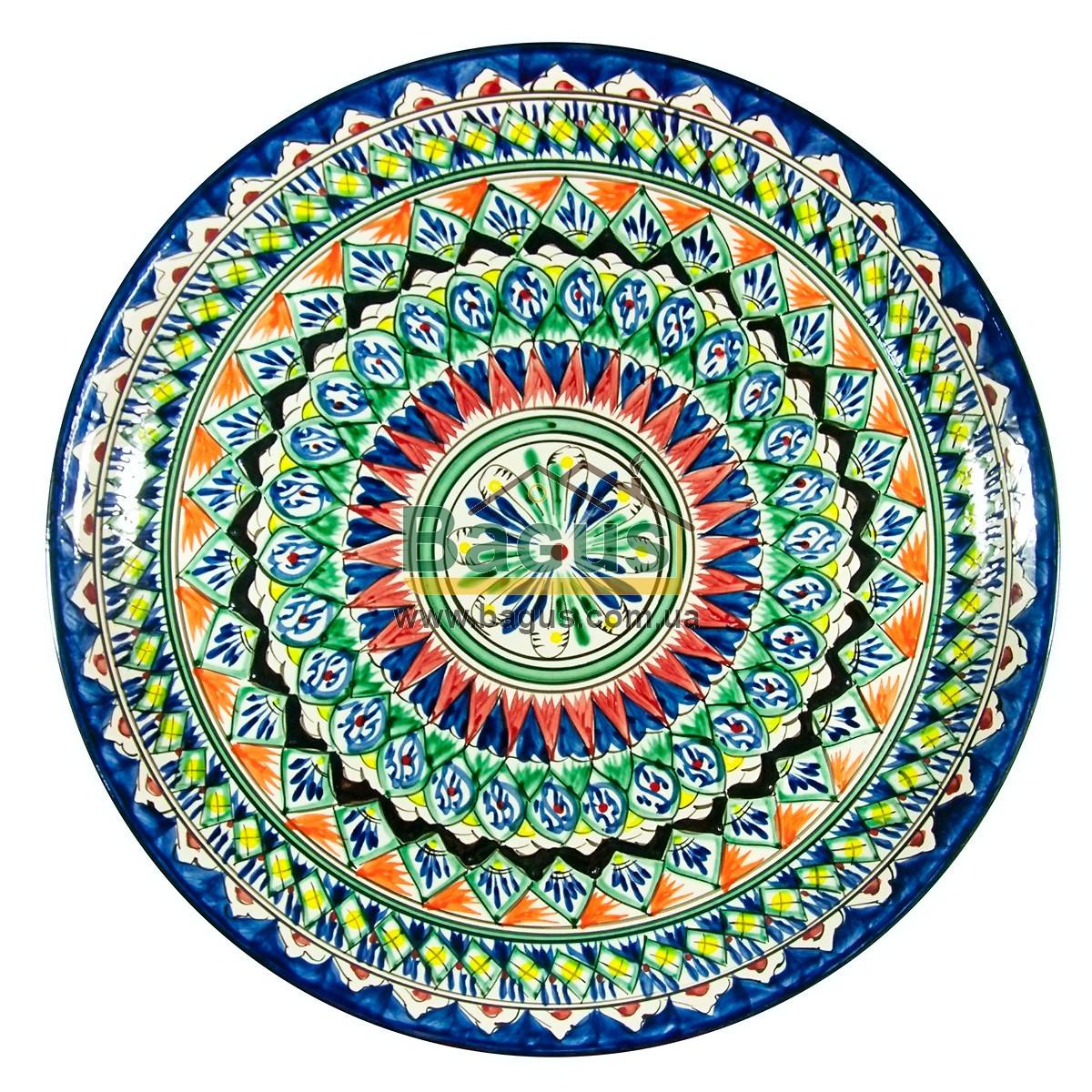 Ляган узбецький (тарілка узбецька) діаметр 37см ручна робота 3704-12