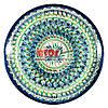 Ляган (узбекская тарелка) 37х4см для подачи плова керамический (ручная роспись) (вариант 17)