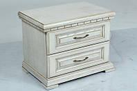 Прикроватная тумба Микс мебель Элит (белая патина) ШхГхВ - 450х350х500 мм