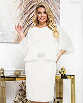 Красивое женское платье Эмилия (айвори) 50-52 размер, фото 3