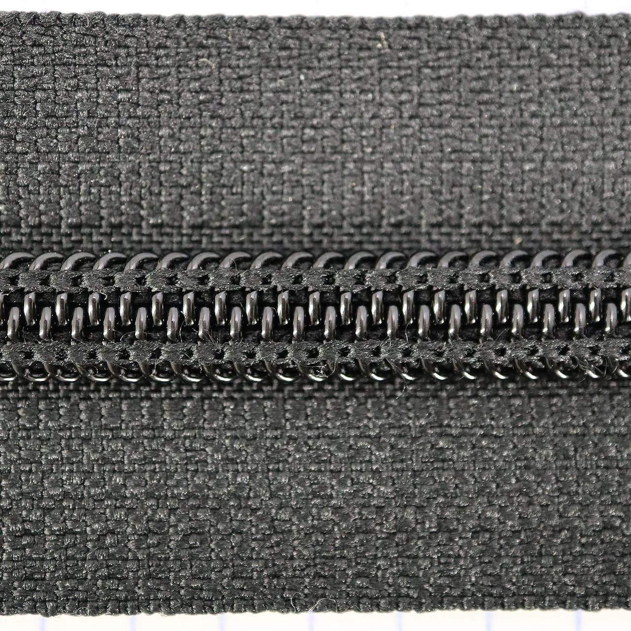 Молния спиральная тип 8 YKK чёрная (2 м.)