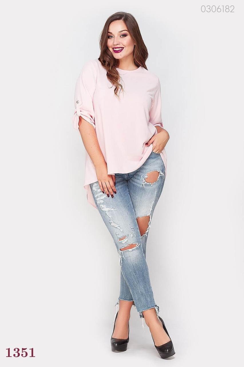 Розовая стильная блузка Малага (розовый)
