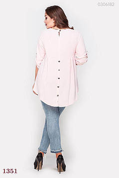 Розовая стильная блузка Малага (розовый), фото 2
