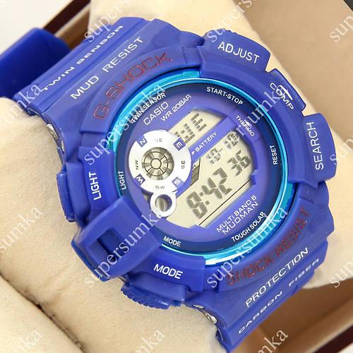 Модные спортивные наручные часы G-Shock GW-9300GB Blue 1006-0209