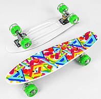 Скейт Пенні Борд Best Board 10765 дошка 55 см, колеса PU, світяться d=6см
