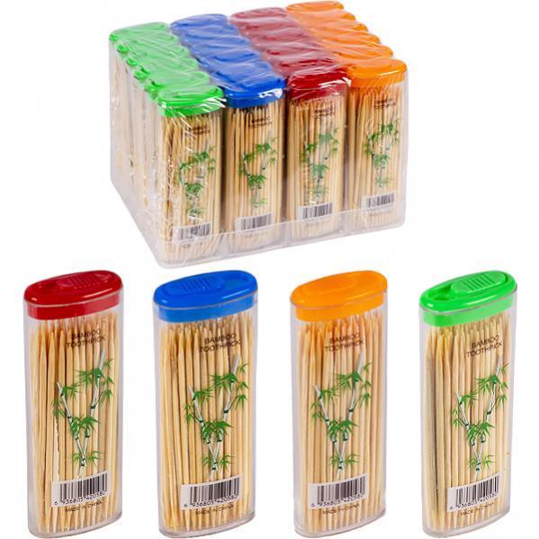 Зубочистки бамбукові «кишенькові» 63 мм,70 шт