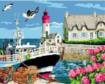 Картина по номерам 40х50 см Brushme Маяк, дом смотрителя (GX 24098)