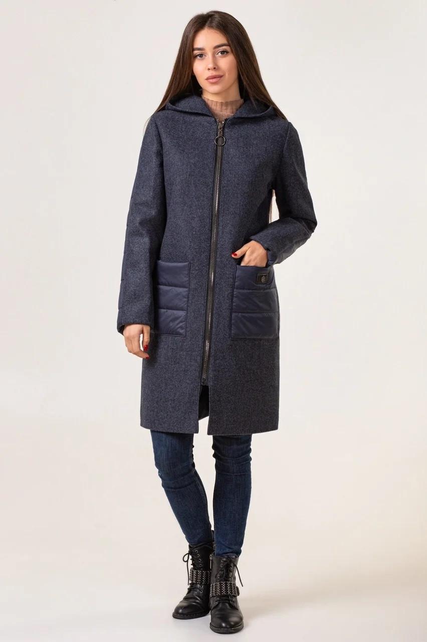Подовжена куртка жіноча демісезонна молодіжна 42-50 синій