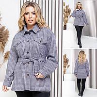 """Рубашка-пальто   Норма+Батал """"Кашемир""""  Dress Code, фото 1"""