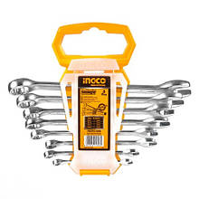 Комплект ключей гаечных комбинированных 6-19 мм INGCO INDUSTRIAL