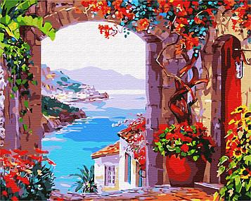 Картина по номерам 40х50 см Brushme Окно на пляж (GX 7258)