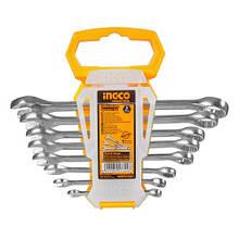 Комплект ключей гаечных комбинированных 6-19 мм 8 шт INGCO INDUSTRIAL
