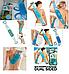 Силиконовая мочалка для душа двусторонняя 70 см натуральная массажер для тела и спины против целлюлита синяя, фото 5