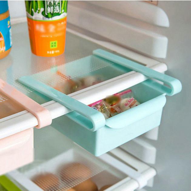 Підвісний органайзер для холодильника, ящики на полиці Підвісні Clefers універсальний блакитний