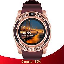 Умные часы Smart Watch V8 сенсорные - смарт часы Золотые (R505), фото 2