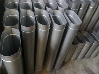 Труба овальная 110/220 нержавеющая сталь 1 мм, L=1000 мм AISI 304  для гильзовки дымохода