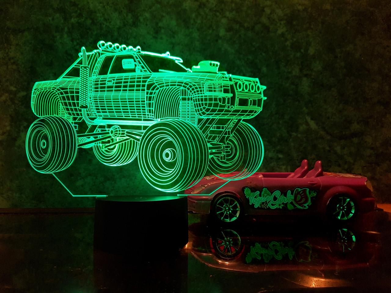 """3D світильник нічник """"Автомобіль 4"""" 3DTOYSLAMP"""