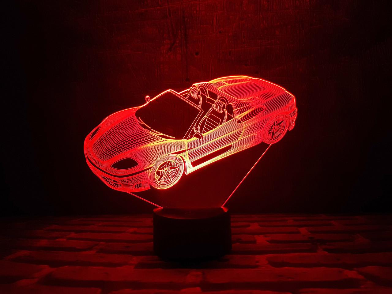 """3d світильник на подарунок """"Автомобіль 3"""" 3DTOYSLAMP"""