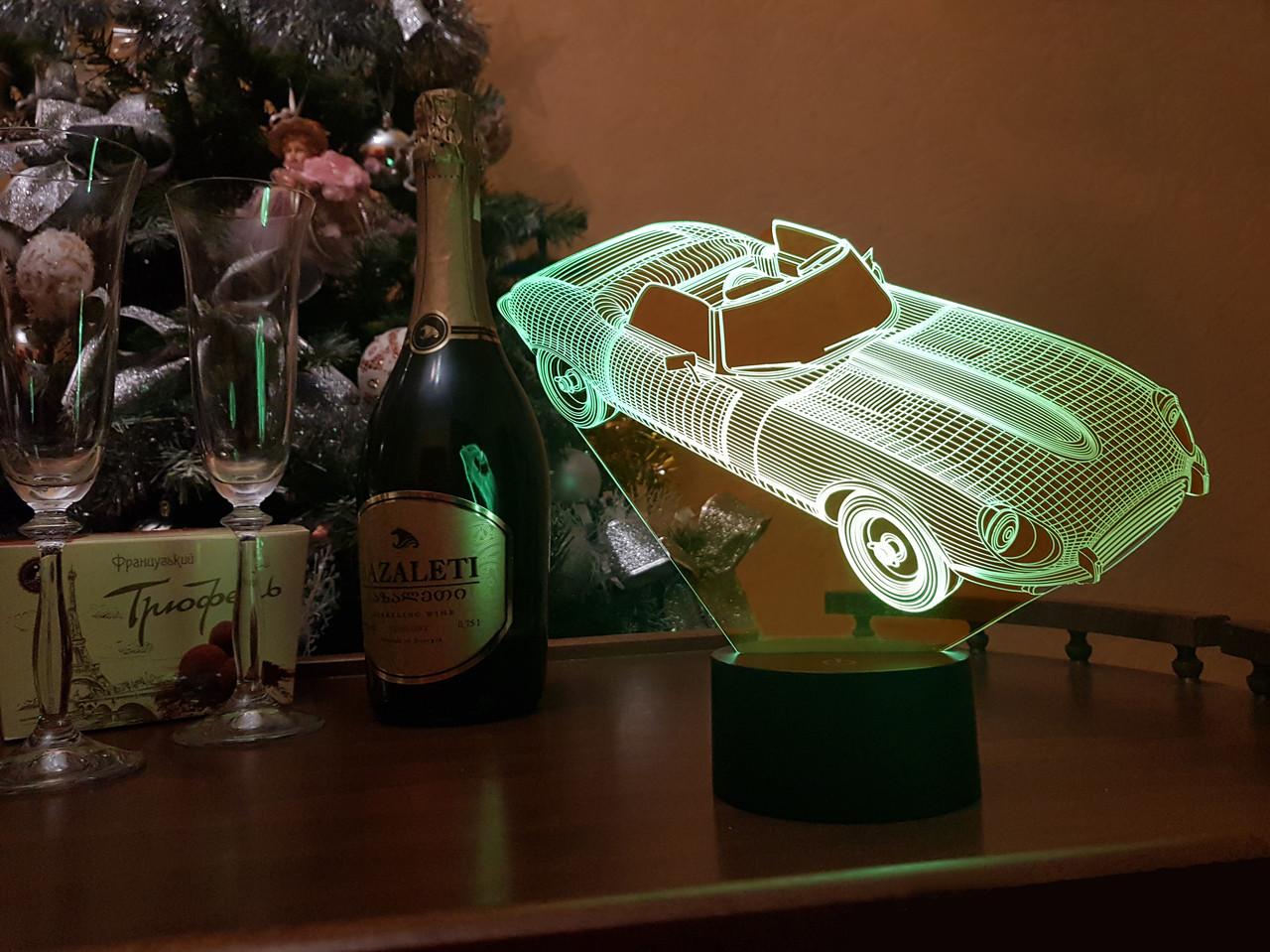 """3D Нічник на подарунок """"Автомобіль 2"""" 3DTOYSLAMP"""