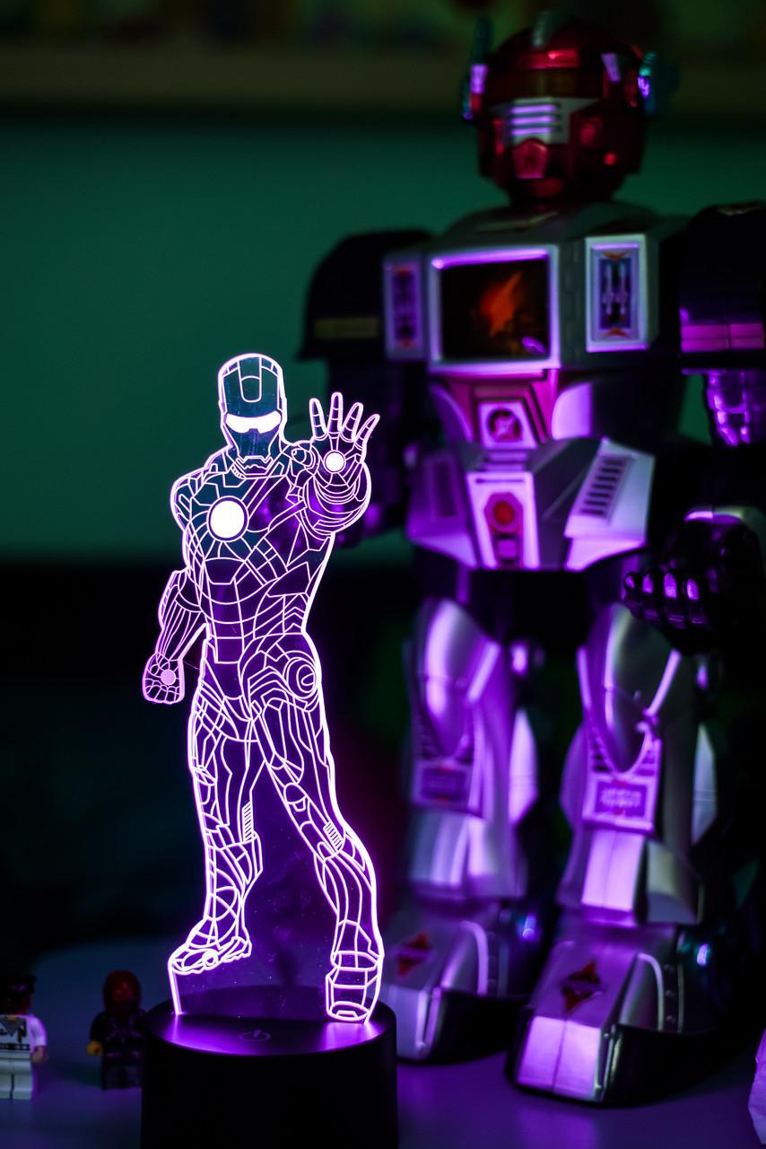 """Нічник - світильник дитячий """"Залізна людина 1"""" 3DTOYSLAMP"""