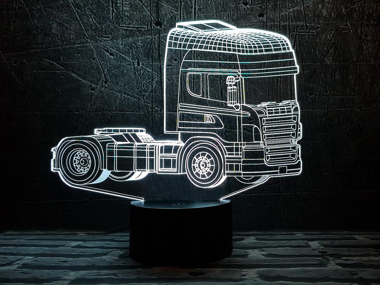 """Дитячий нічник - світильник """"Автомобіль 19"""" 3DTOYSLAMP"""