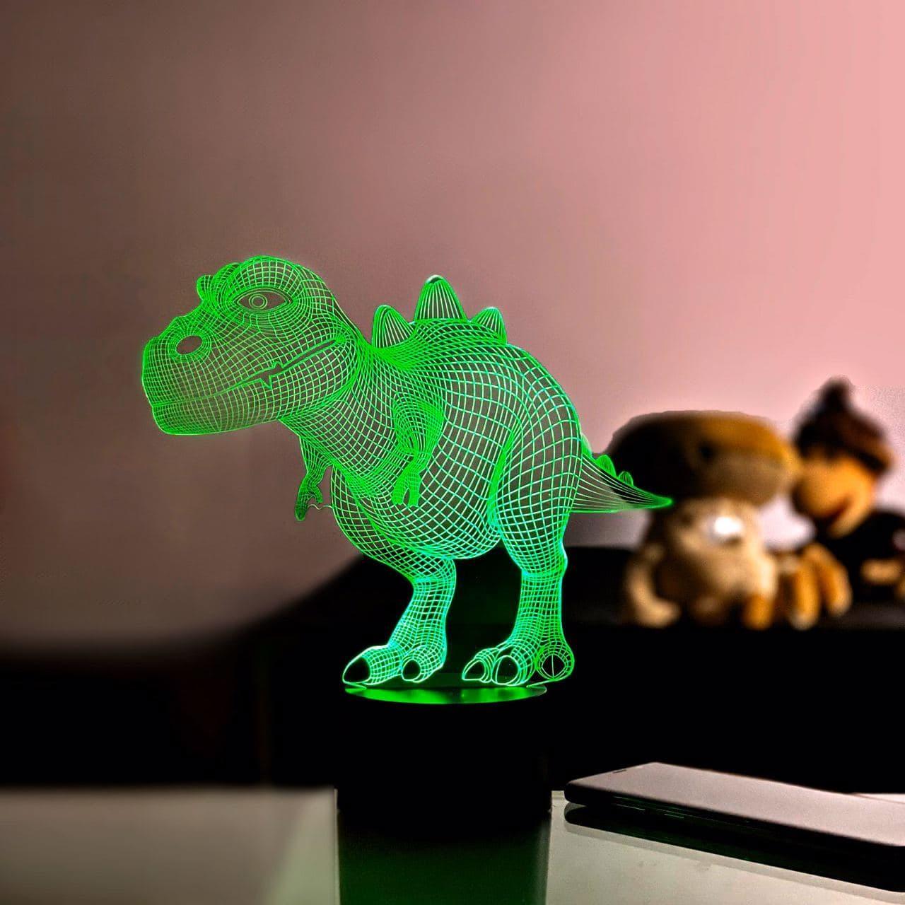 """3D ночник """"Динозаврик 2"""""""