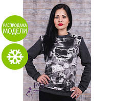 """Теплый батник женский """"Абстракция""""  Распродажа модели р. 42-44"""