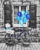 Картина по номерам Синий праздник, размер 40*50 см, зарисовка полная, на подрамнике