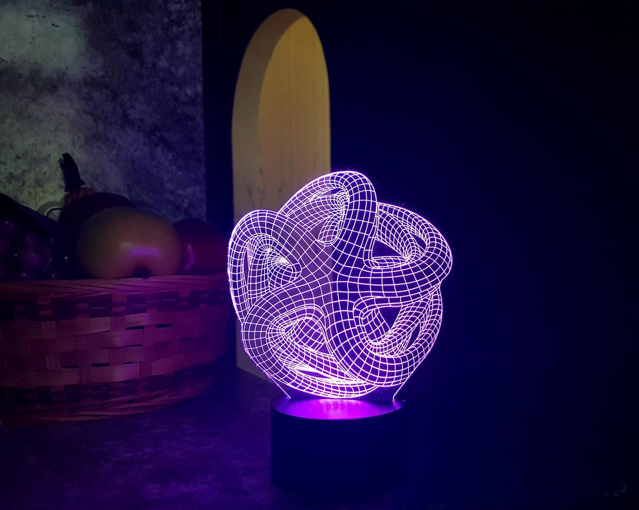 """3D світильник """"Зірка"""""""